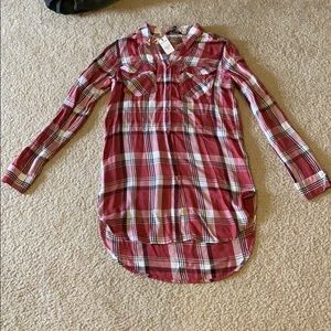 Express Tops - NWT Express plaid button down shirt